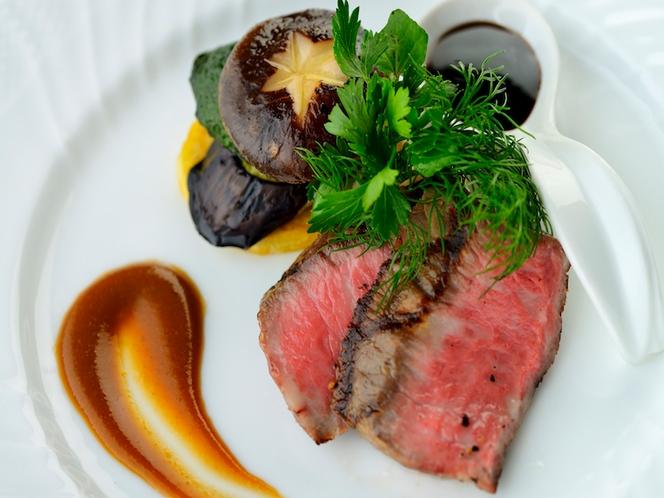 肥後褐牛のステーキ