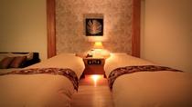 【バリ風洋室ツイン】ツインベッドはご夫婦、お友達旅行どちらにも最適です。