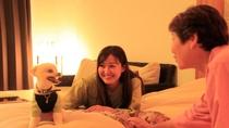 【バリ風洋室ツイン】喜ぶわんこを見ているとご家族みんなが嬉しくなります。