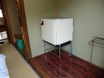お部屋備え付けの冷蔵庫