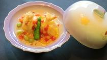 揚物一例:鰻湯葉茶巾銀餡かけ