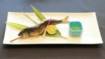 焼物:鮎の塩焼き