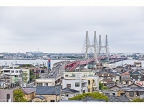 銚子大橋を一望