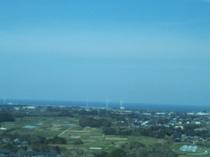 地球の丸く見える丘展望台からの景色(北)