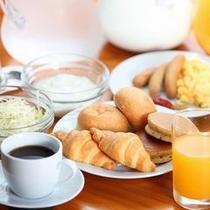 サービスの軽朝食