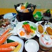冬のよくばり御膳/メインのあんこう鍋と日本海の冬の海の幸!お料理重視の方にイチオシのグルメプラン。