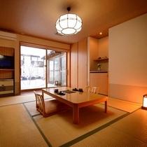 天然温泉付客室「月の詩・曙の空」客室の一例