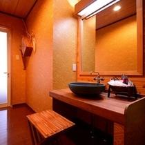 湯久楽人くらぶ-脱衣所、洗面などの水回りも快適
