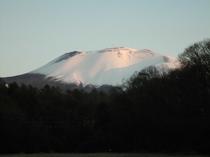 朝焼けの浅間山