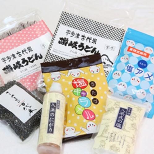 【お土産コーナー】 宇多津特産品・香川名産品が充実