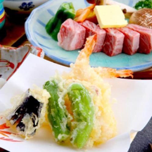 【夕食一例】旬の野菜を天婦羅でどうぞ♪