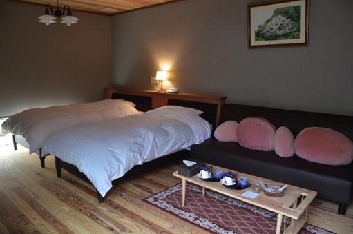離れのお部屋♪洋室12畳(ツインルーム)バリアフリー