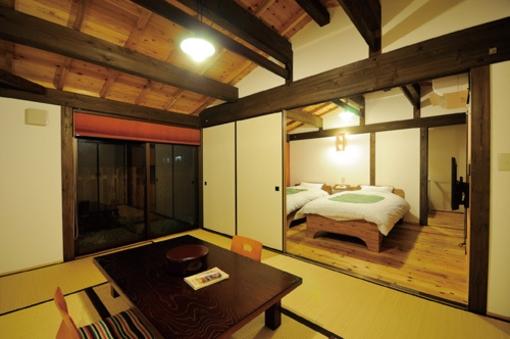 全室離れ♪和室6畳+洋室6畳(ベッド2)部屋風呂あり
