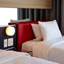 スプリングメイト社特注のベッド&高品質なリネンをご用意