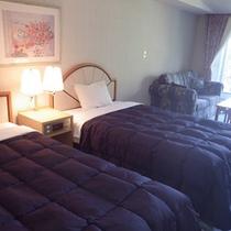 *【客室例】デラックスツイン/美しい景色をお部屋からもお楽しみ頂けます。
