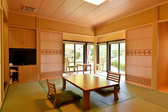 【秋冬旅セール】露天風呂付和室【楓の間】大原の絶景とプライベート庭園を満喫