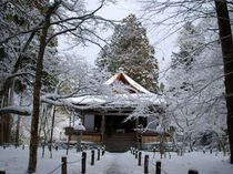 三千院国宝 往生極楽院 静まり返ったあう冬の朝