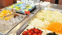 【朝食】サラダ・ヨーグルトでヘルシーに