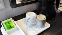 【客室共通】お茶セット・湯沸かしポット