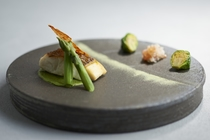 【Dinner】2021 Spring Menu 桜鯛 菜の花 抹茶