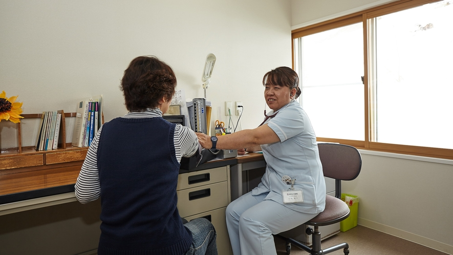 【湯治相談室】初めての方は、入浴方法や湯治の仕方等色々と看護師がご相談をお受けいたします。
