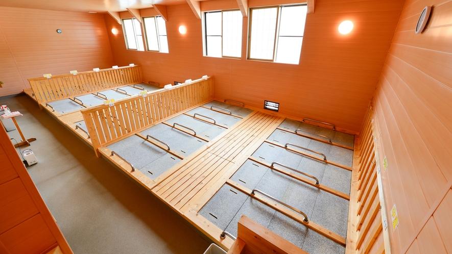 【屋内岩盤浴】ご宿泊のお客様は無料で利用できます。※フロントで時間予約制