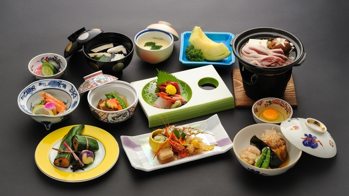 【土曜日も一律料金!】1〜3月限定◆二食付*人気の「かも川」会席。京都中心部の旅館で冬の京都を満喫♪