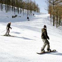 スキーリゾート天栄までは当館から車で5分♪