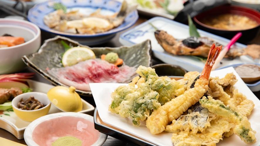 *夕食一例(里山御膳)/今採れる美味しいものをたっぷりと!お腹いっぱい里山料理のお膳