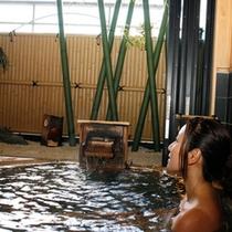 ■貸切露天風呂に一人で1