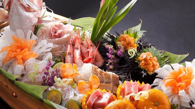 ◆【料理】≪上・活鯛舟盛懐石≫ 〜ピチピチ活鯛舟盛りにうに・とろ・甘海老も!◆