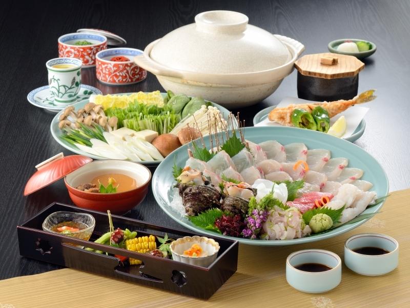 【瀬戸内の鮮魚しゃぶしゃぶ】料理長一押しのコース料理!※お食事一例となっております。