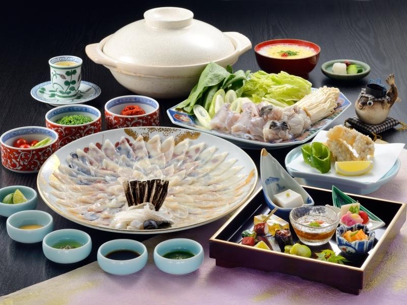 【ふぐフルコース】たっぷりふぐを味わうふぐのフルコース※お食事一例となっております。