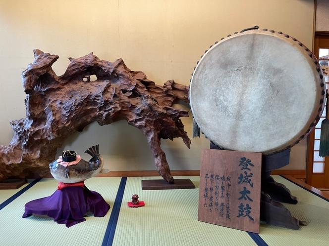玄関の太鼓