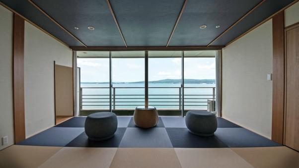 【禁煙/白鵬】二間続きの海を望む特別室《個室食事処確約》