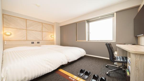 【禁煙】ツインルーム【100cm幅ベッド2台】