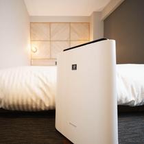 加湿機能付空気清浄機★全室完備