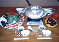 お食事例:鴨鍋