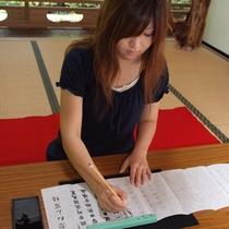 ■安来清水寺での写経写仏体験■