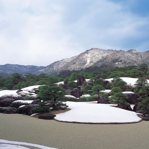 足立美術館庭園(冬の庭園)①