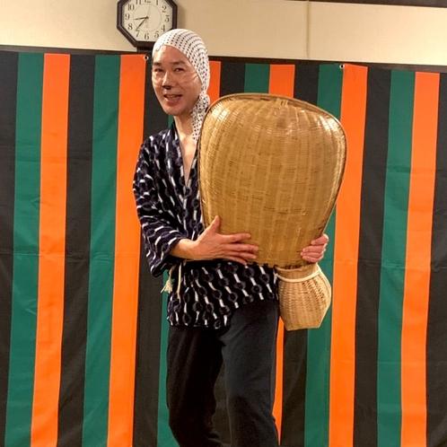 伝統芸能『安来節どじょうすくい踊り』(主人)