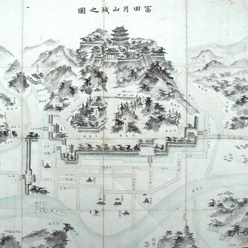 月山富田城図