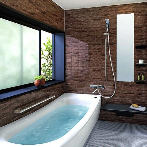 12月中旬よりTOTO最新システムバスを客室に導入いたしました。クレイドル浴槽で旅の疲れをゆったり