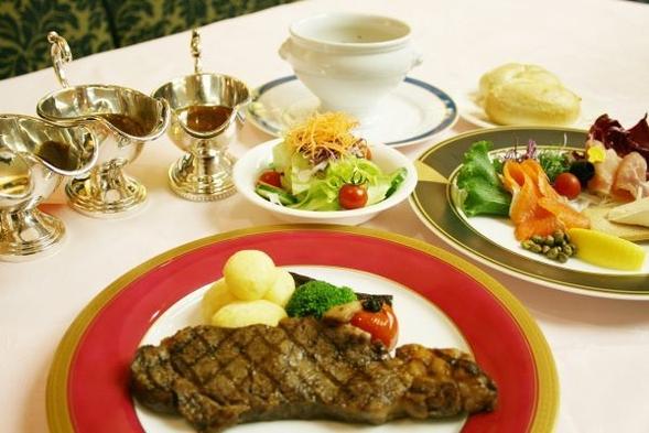 レストラン舟茶屋で楽しむ「夏の洋食フルコース 」と「朝食」 2食付(14時アウト)