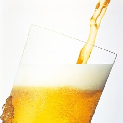 ホテルラウンジでビール! 「氷点下ビール2杯とおつまみ一品」+「朝食」