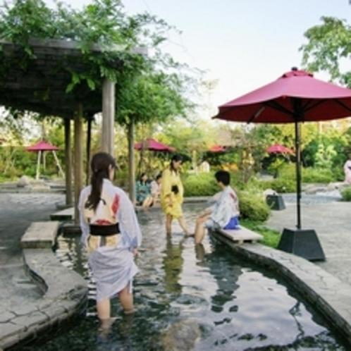 【600×600】大江戸温泉。足湯