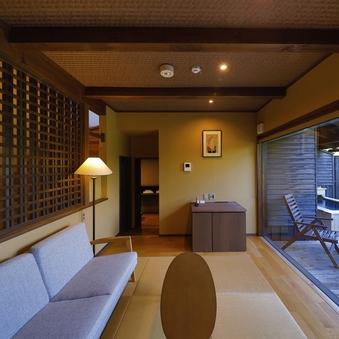 メゾネットタイプ客室【天然温泉の内湯・露天風呂付き】