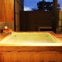 バリアフリーひのき風呂