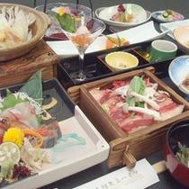 *【夕食一例】新鮮な海山の味覚をお楽しみ下さい。