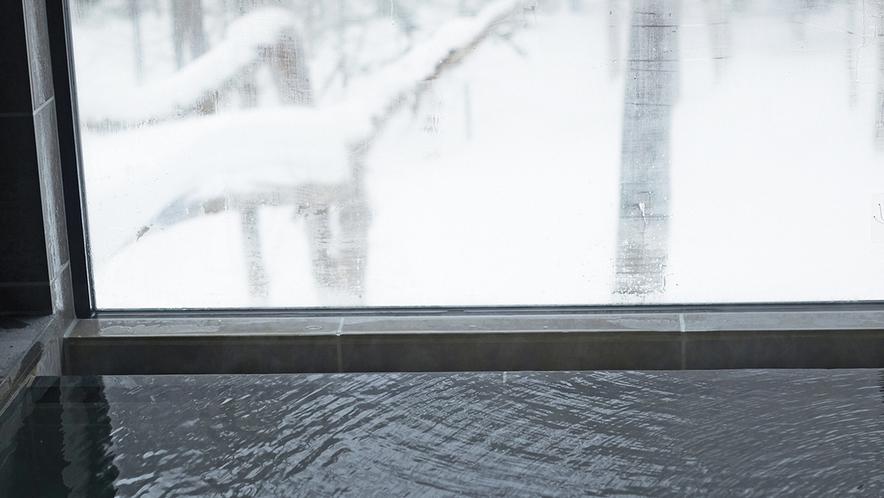 【森の展望風呂】冬景色を眺めながら湯浴み(藍)